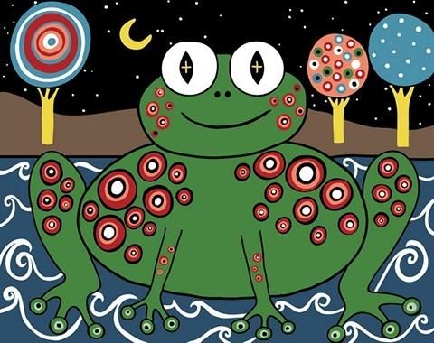 Картина по номерам Лягушка Карлы Жерар