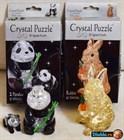 3D Crystal Puzzle. Кролик (41 деталь). Две панды (51 деталь)