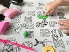 Раскраска-коврик «Алфавит» для стола, 33 буквы и 5 занимашек для ребенка