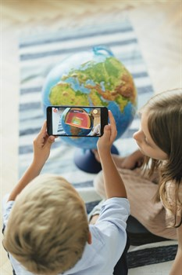 Интерактивный глобус Земли физико-политический с подсветкой 250мм - фото 10056