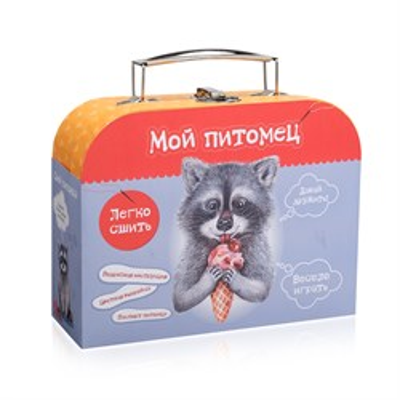 Набор для детского  творчества  Сшей игрушку  Енотик - фото 10243