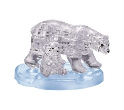 3D Головоломка Два белых медведя - фото 10851