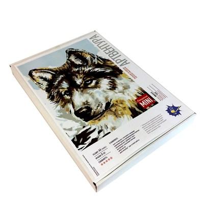 Раскраска по номерам Серый волк - фото 10961