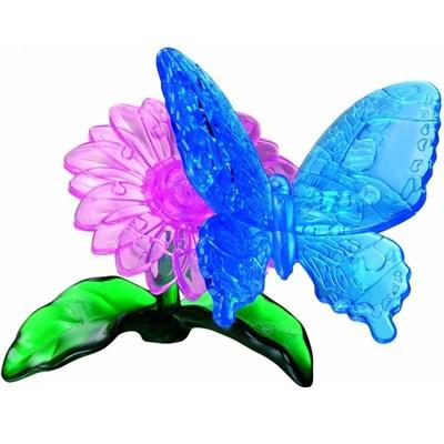 3D Головоломка Бабочка голубая - фото 12224