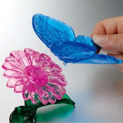 3D Головоломка Бабочка голубая - фото 12225