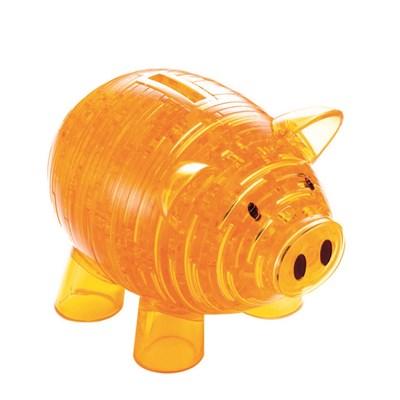 3D головоломка Копилка хрюшка золотая - фото 12586