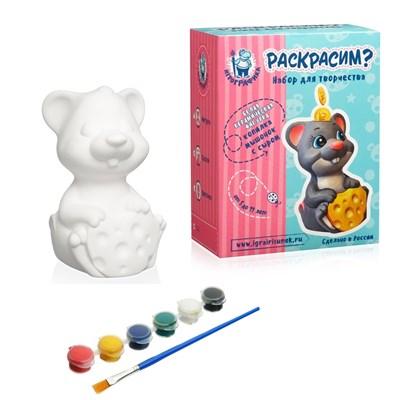 Керамическая копилка-раскраска «Мышонок с сыром» - Купить ...