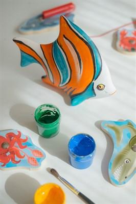 Керамическая фигурка-раскраска Рыбка - фото 13470