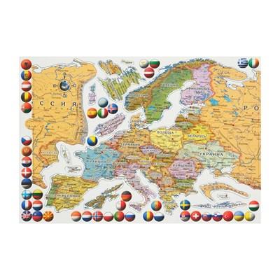 Магнитный пазл Карта Европы - фото 14436