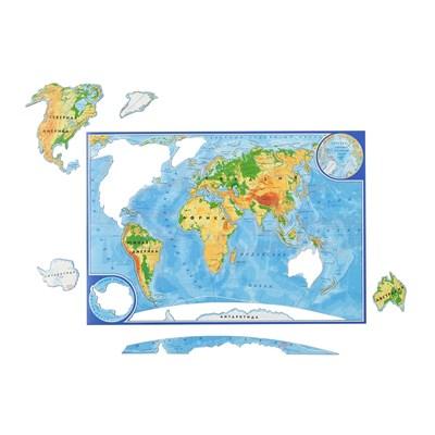 Магнитный пазл Карта мира - фото 14544