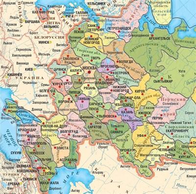 Карта-пазл Субъекты Российской Федерации - фото 14551