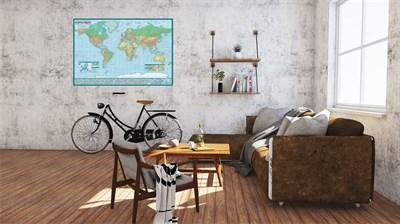 Политическая карта мира (1:45) в тубусе - фото 14765