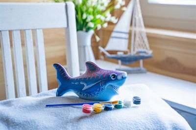 Керамическая фигурка-раскраска Акула - фото 15058