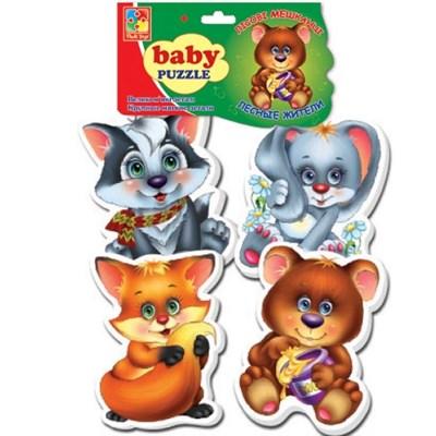 Мягкие пазлы Baby puzzle Лесные жители - фото 15170