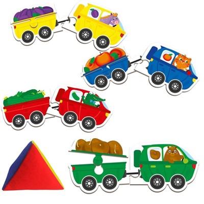 Игра с мягкой пирамидкой для самых маленьких Звероцепы - фото 15250