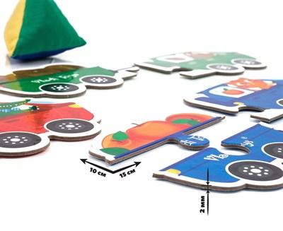 Игра с мягкой пирамидкой для самых маленьких Звероцепы - фото 15251