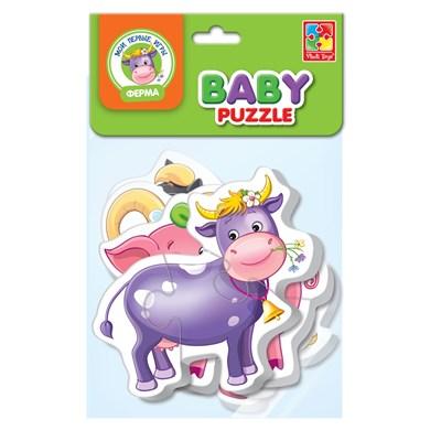 Мягкие пазлы Baby puzzle Ферма - фото 15277
