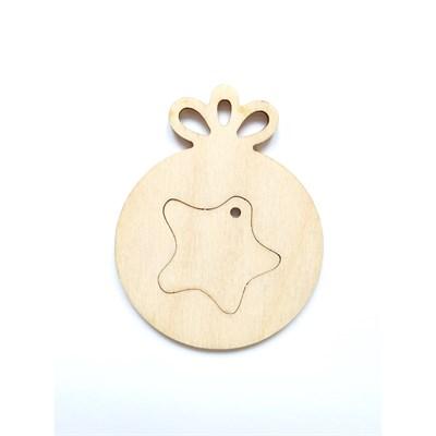 Елочное украшение Шарик со звездой - фото 15391