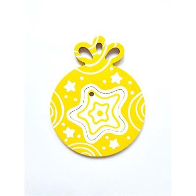Елочное украшение Шарик со звездой - фото 15392