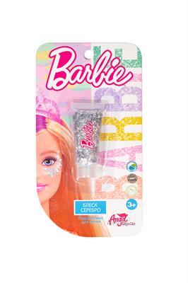 Детская декоративная косметика BARBIE. Блеск для лица Серебро - фото 15505