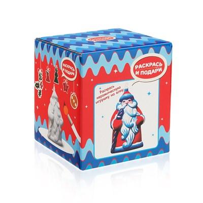 Фигура для раскрашивания из керамики Дед Мороз - фото 15594