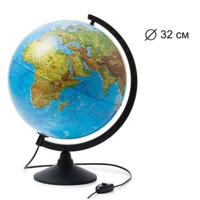 Глобус Земли физико-политический 320 мм с подсветкой Классик - фото 15758