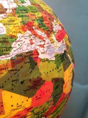 Глобус Земли физико-политический 320 мм с подсветкой Рельефный Классик - фото 15769
