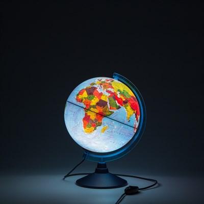 Интерактивный глобус Земли физико-политический с подсветкой 250мм - фото 15889