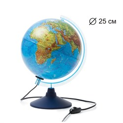 Интерактивный глобус Земли физико-политический с подсветкой 250мм - фото 15890