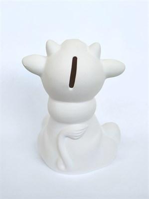 Керамическая копилка-раскраска Бычок с шарфом - фото 16028