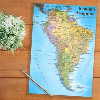 Карта-пазл Южная Америка - фото 16708