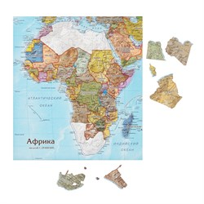 Карта-пазл Африка - фото 16761