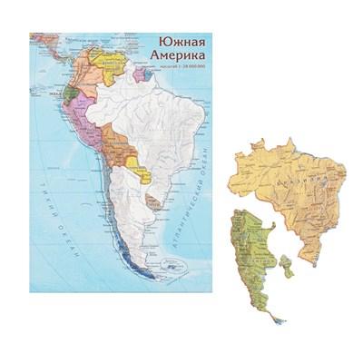 Карта-пазл Южная Америка - фото 16765