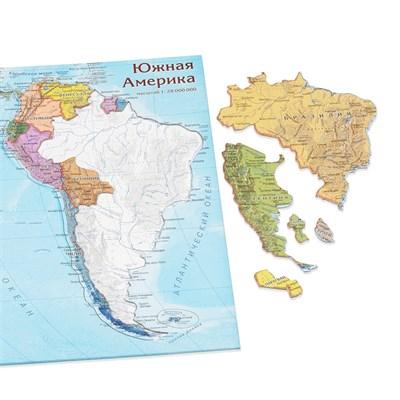 Карта-пазл Южная Америка - фото 16766