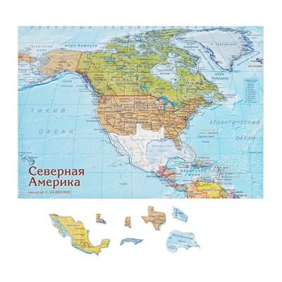 Карта-пазл Северная Америка - фото 16769