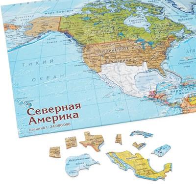 Карта-пазл Северная Америка - фото 16770