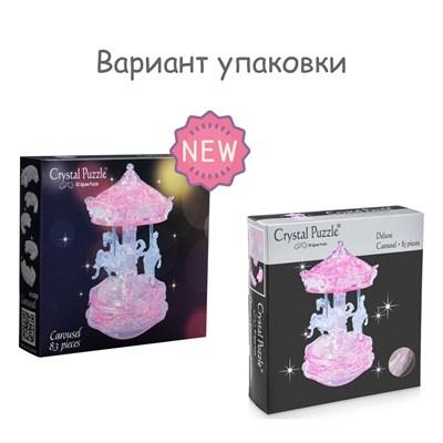 3D головоломка Карусель розовая - фото 16827