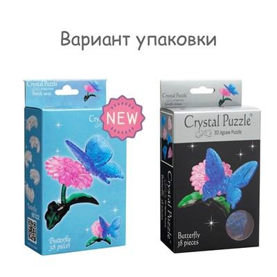 3D Головоломка Бабочка голубая - фото 16845