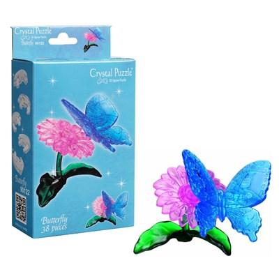 3D Головоломка Бабочка голубая - фото 16846