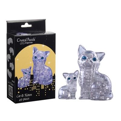 3D головоломка Кошка Серебристая - фото 16930