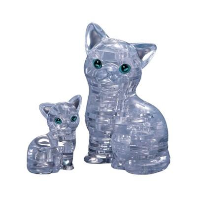 3D головоломка Кошка Серебристая - фото 17102