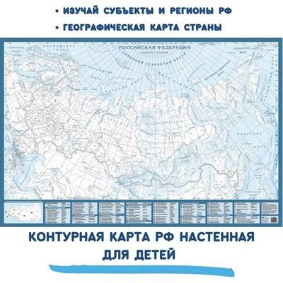 Контурная карта РФ настенная - фото 17564