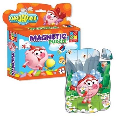 Магнитные пазлы в коробке Смешарики Нюша - фото 5327