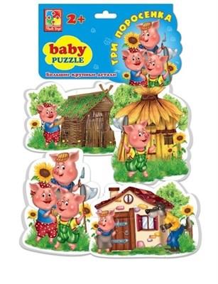 Мягкие пазлы Baby puzzle Три поросенка - фото 5363