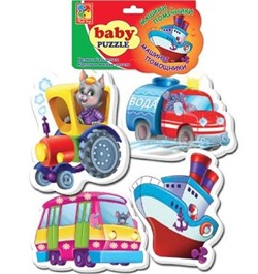 Мягкие пазлы Baby puzzle Транспорт - фото 5377