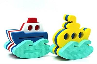 Игрушка-конструктор для купания Кораблик + Подводная лодка - фото 5386