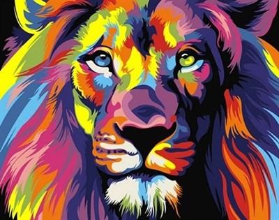 Картина по номерам Радужный лев - фото 5438