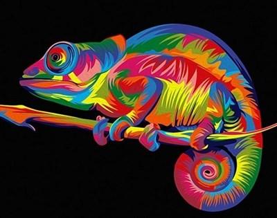 Картина по номерам Радужный хамелеон - фото 5447