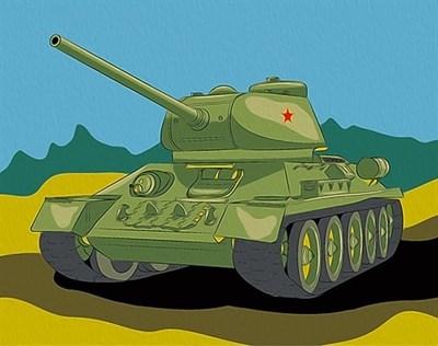 Картина по номерам Танк Т-34 - фото 5449