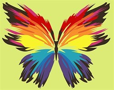 Картина по номерам Бабочка-многоцветница - фото 5450